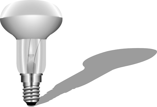 stín žárovky