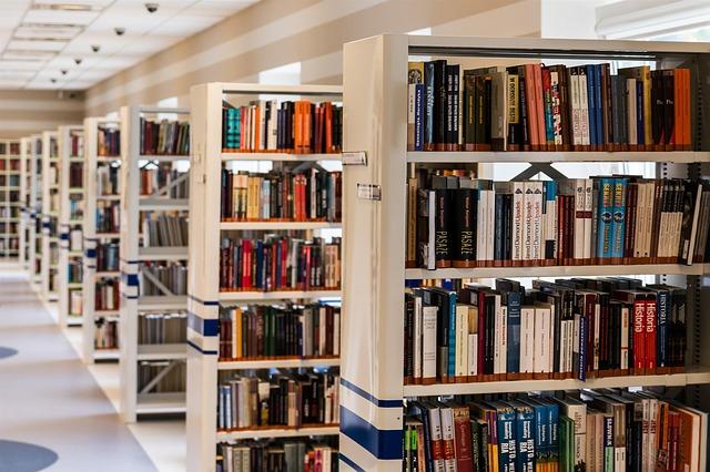 regály knihovny