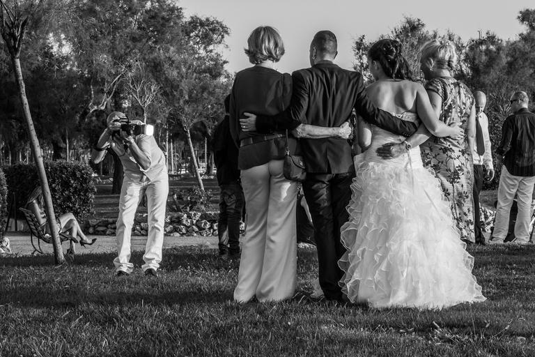 fotografování svatebčanů
