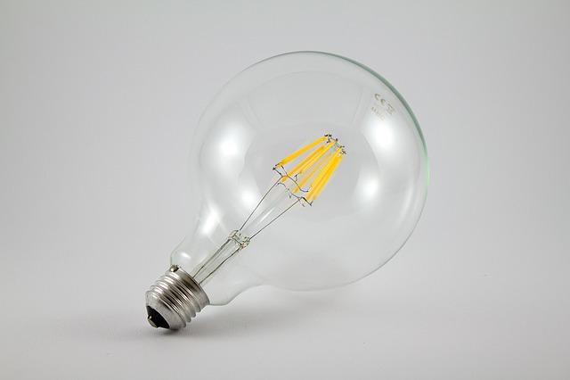 svítivá dioda zblízka